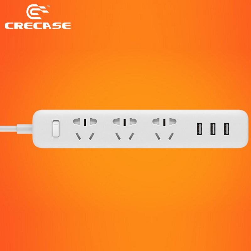 100% Original Xiao mi Smart Power Strip Plug Adapter Universal Extension Outlet Socket 3 USB Charger Adapter AU Standard Socket(China (Mainland))