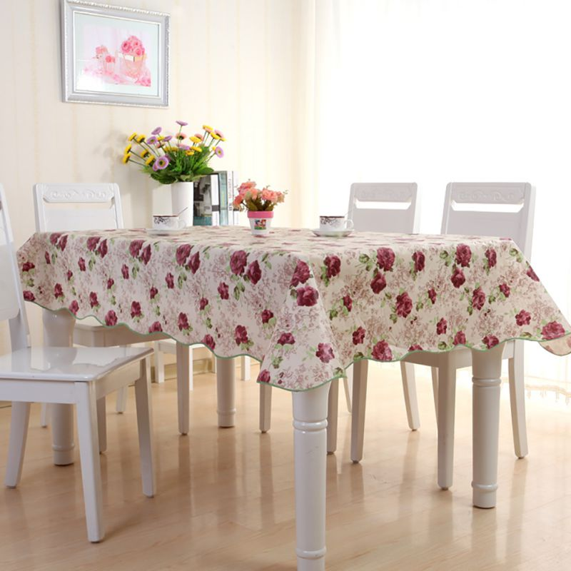protector wipe clean pvc vinyl tablecloth dining kitchen table cover