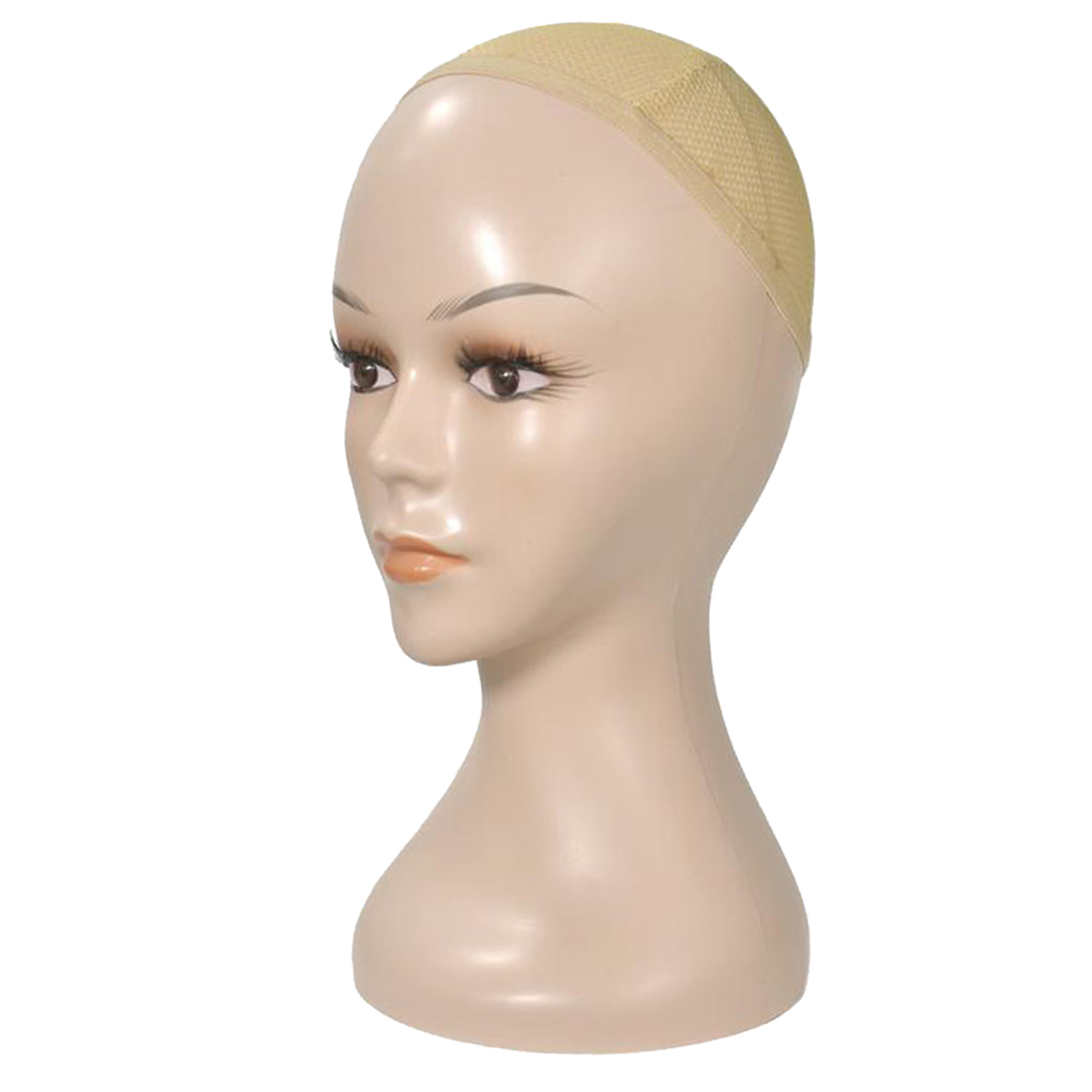 Mannequin Head Wig Display Styling Head Wig Cap for Women Wig Hat Skin Color