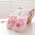 Durable Fashion Home Anti slip Slippers Shoes in Autumn Winters Lovely Pig Home Floor Soft Stripe