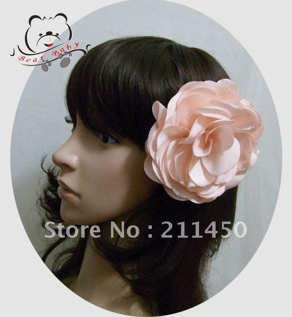 Free Shipping Fashion  Hair clip 10.0cm Flower Hair Accessories Flower Brooch, Hair Jewelry 6pcs/lot-KD12041001