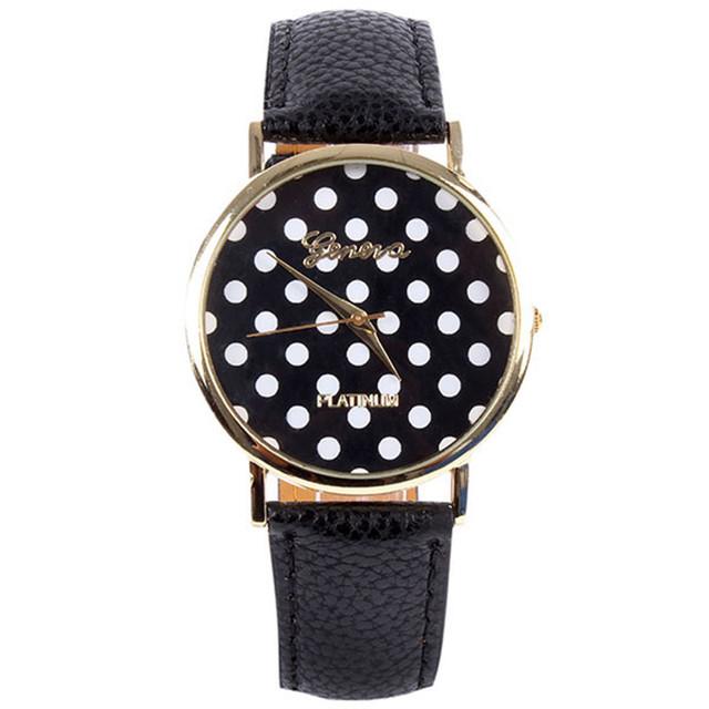 Zegarek damski GENEVA w urocze kropki różne kolory