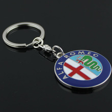 Metal 3D ALFA ROMEO Car Keychain Keyring For Auto Key Chain Ring YOWO