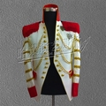 Customizable hot style male singer costumes costumes stage with white suit