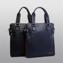 Fashion Men's High Quality Microfiber Leather Briefcase Casual Business Bag Crossbody Menssenge/One Shouler Bag Black Blue Z159(China (Mainland))