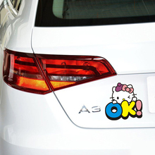 Buy Car Accessories OK! Hello Kitty Funny Car Sticker and Decal for Girls Volkswagen Polo Golf Skoda Mercedes Smart Bme Audi Renault for $2.03 in AliExpress store