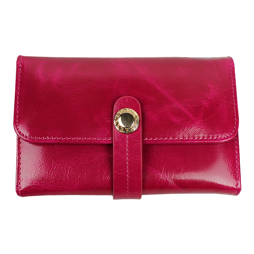 2015 new high-grade wax head layer leather women short genuine wallet purses - Great Shop store