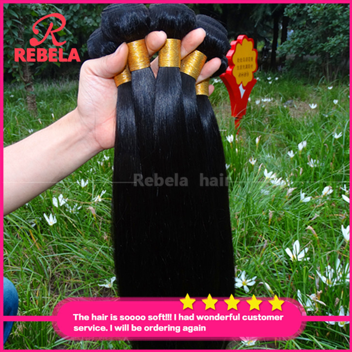 Xuchang Longqi Beauty Hair Products 8A Indian Remy Straight Wave 100% Unprocessed Human Weaves Raw Virgin - Rebela hair products Co.,Ltd store