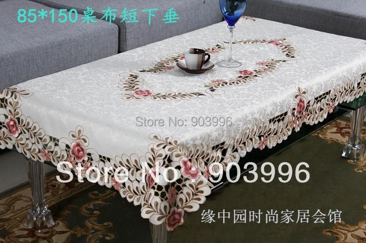 "6730 embroidery red fabric table cloth rectangle wedding tablecloths wedding table cloths, SIZE:85*150cm(33.5*59"")(China (Mainland))"
