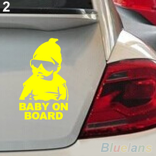 Baby on Board Car Safty Sticker Decal Waterproof Night Reflective Wall Stickers car covers 2K1Z