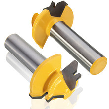 Small Lock Miter Router Bit 45 degree 1/2 inch Stock 1/2 inch Shank Tenon Cutter for Woodwork