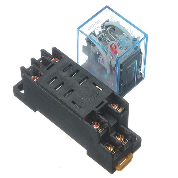 1pcs 220V Coil Power Relay 10A DPDT LY2NJ HH62P HHC68A-2Z With Socket Base New(China (Mainland))