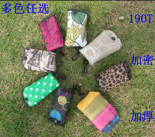 100pcs/pack Cell phone encryption 190t thickening eco-friendly bag shopping bag blended-color