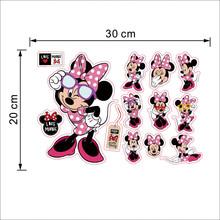 Desenhos animados Mickey Minnie Mouse bebê decalques casa adesivos de parede para crianças parque de diversões sala quarto arte da parede do berçário do bebê DIY cartaz(China)