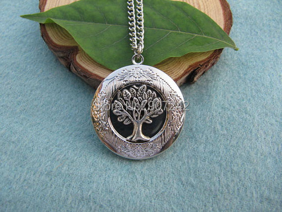 Tree of Life Locket, Silver Locket,Gift for Mom, Wife, Sister, Daughter, Graduation, Unique Locket Gift Idea(China (Mainland))