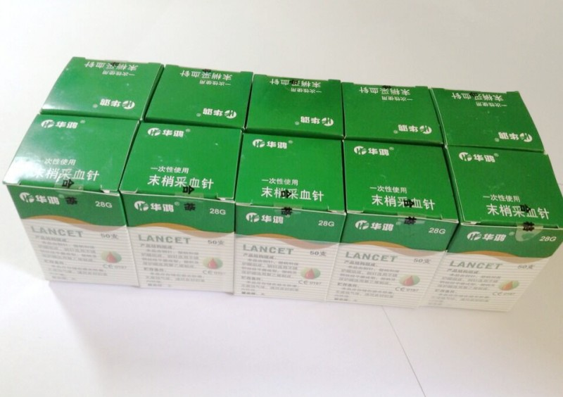 Wholesales CE approved Sterile disposable blood Lancet 500pcs/lot for blood glucose sampling 23G/26G/28G 10packs/lot free(China (Mainland))