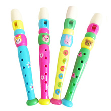 Kids colorful plastic flute for 3+ children learning & exercising type early education Musical Toy(China (Mainland))