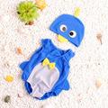 2 pcs set Cute Animals Baby s swimwear suit baby boys and girls Bathing suit swimming