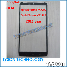 Outer Glass Lens for Moto maxx XT1225 DROID Turbo XT1254 Front Glass 5pcs/lot 2015 year Free Shipping(China (Mainland))