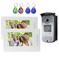 Wired Home 7 inch TFT LCD Monitor Color Video Door Phone Intercom System RFID IR COMS