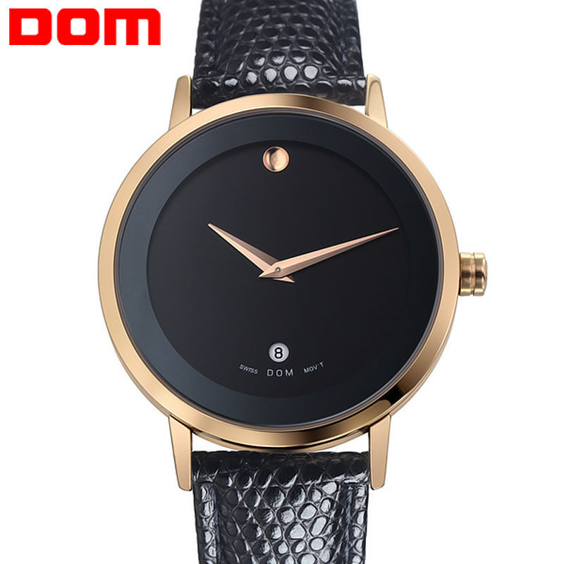 Watch dom male watch vintage casual commercial genuine leather strap the trend of fashion calendar mens watch<br><br>Aliexpress