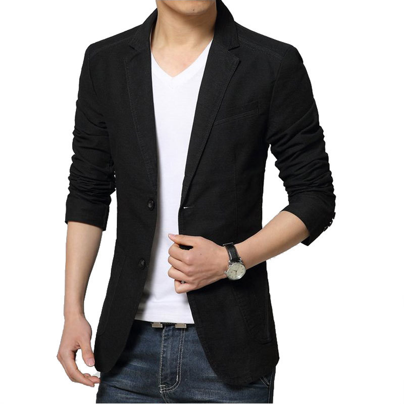 Mens Black Blazer Jacket Photo Album - Reikian