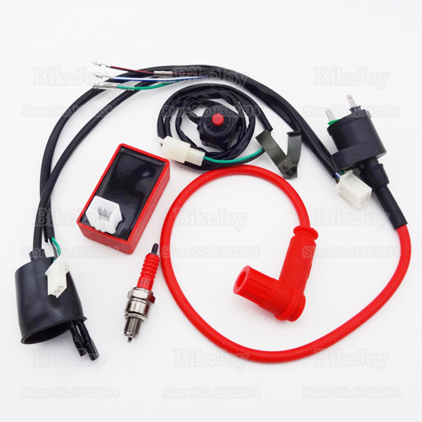 wiring loom harness kill switch racing ignition coil 5 pin ac cdi box a7tc spark for ycf