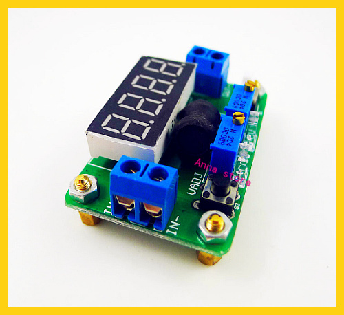 2pcs/lot dc dc Buck step down 4.5-24V to 1-20V 12v 5v 2A cc cv Converter Constant Voltage Current with LED Volt Ammeter