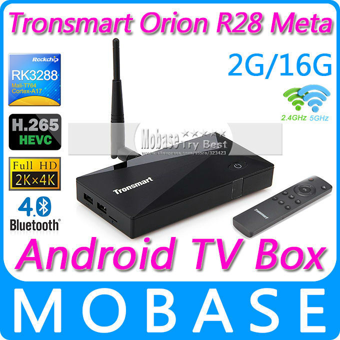 Tronsmart Orion R28 Meta Android TV Box RK3288 Quad Core Smart TV IPTV XBMC 1.8GHz 2G/16G HDMI H.265 Media Player 2.4G/5GHz WiFi(China (Mainland))