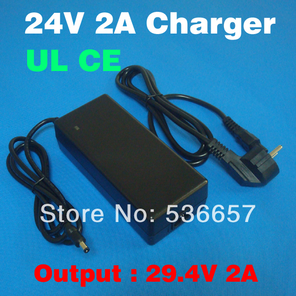 24V 2A charger Output 29.4v 2a Superior performance electric bike lithium battery charger dedicated 24v Li-ion battery charger(China (Mainland))