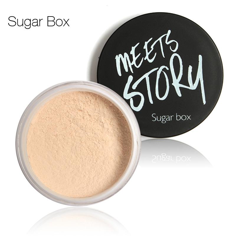 Sugar box 2015 Make up loose Powder Bare mineralize skinfinish Modern fresh concealer Powder Fixing Clam Makeup face powder(China (Mainland))