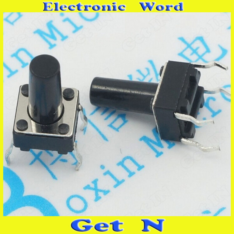 1000pcs  6*6*9.5 DIP Pin Tactile Switch 6*6*9.5 Plug-in Tact Switch<br><br>Aliexpress