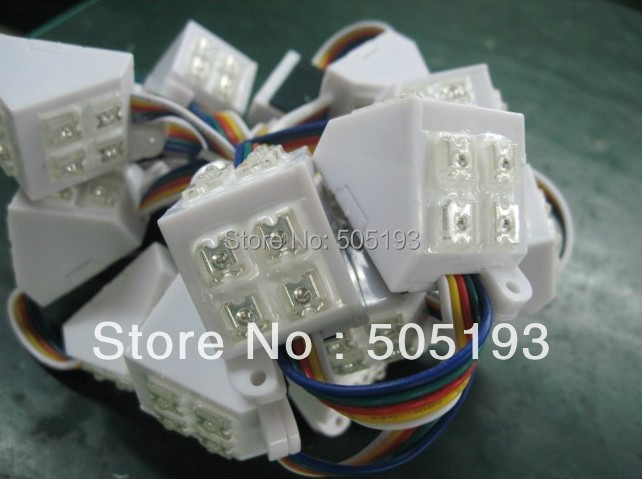 5050 8LED triangle module double emitting, full color, IP68 waterproof, - CHINLY ELECTRONIC TECHNOLOGY CO.,LTD store