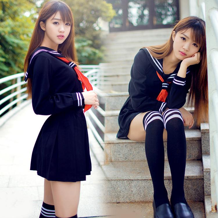 Японский матросский костюмчик аниме косплей костюм, Девушки ученик средней школы равномерное, С длинными рукавами JK равномерное сексуальная одежда(China (Mainland))