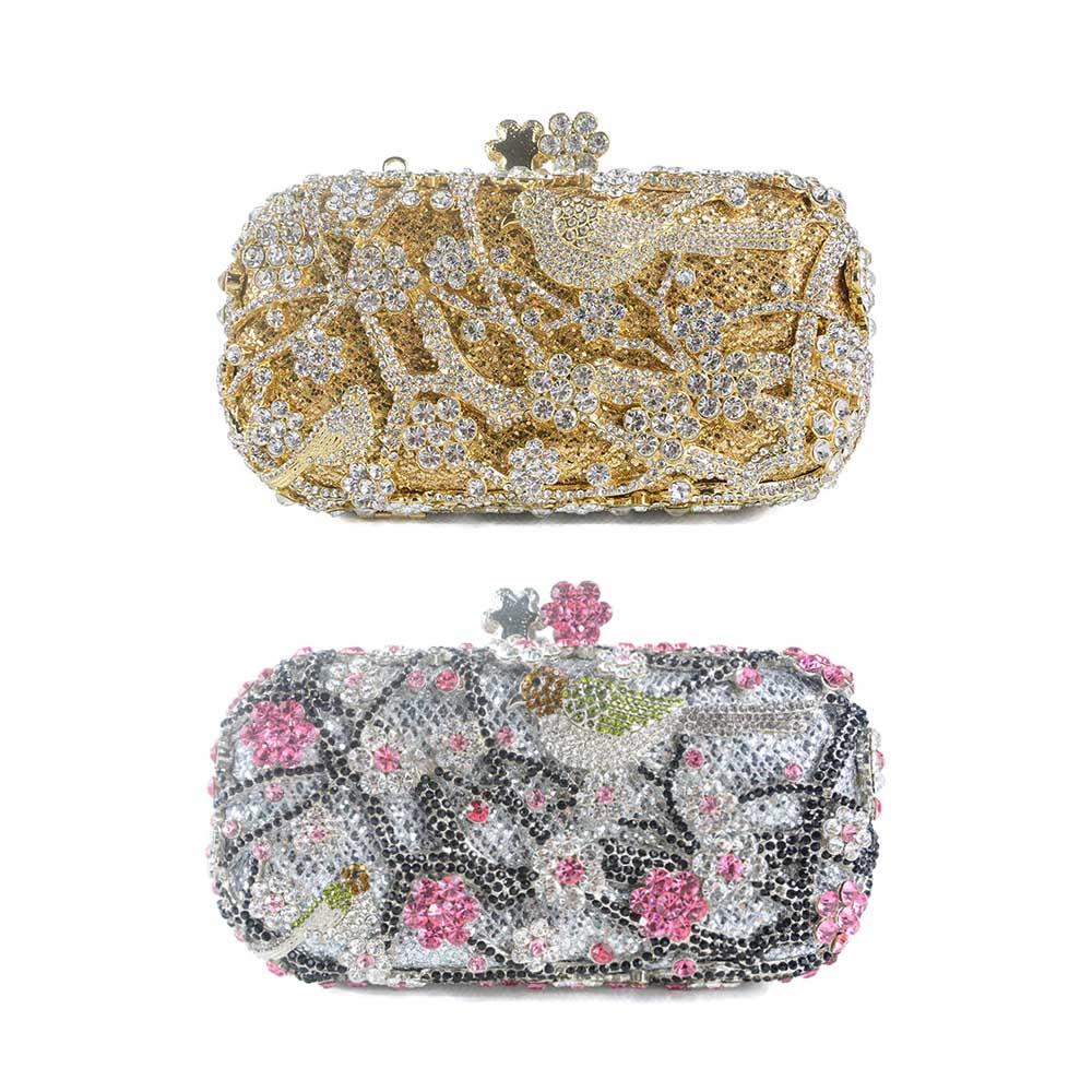 Bag Rhinestone Clutch Handbag Bridal Evening Shoulder Chain Purse ...