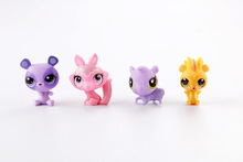lps toy pet shop mini small animal pet doll Cute Cat Dog Lizard Animals doll pokemon