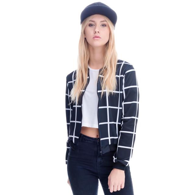 Mix 2016 новое поступление весна женщины Abrigos Mujer куртка бомбардировщик короткие ...