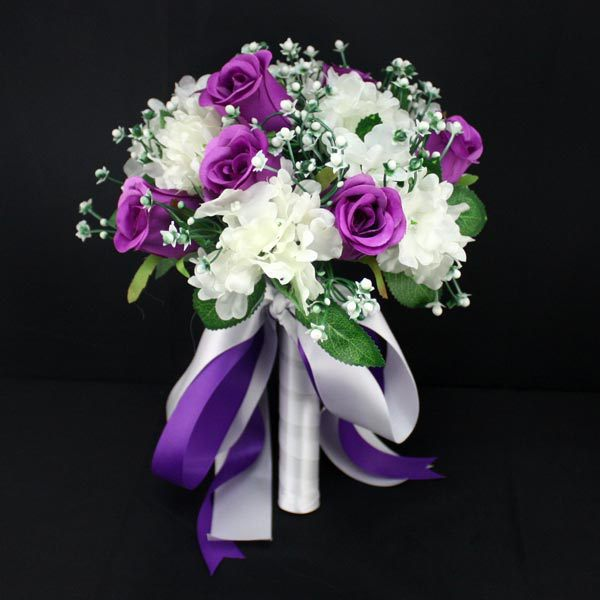 Bridal Bouquet Out Of Ribbons : New woman flower wedding bouquet bridal ribbon handmade