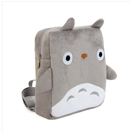 Cartoon totoro plush square backpack school bag gift baby soft toys - Little Genius store