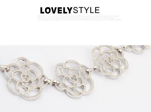 fashion Vintage Beauty Rose Headband Hairpin Hair Jewelry Free Shipping Spx0519 Gold/silver E-joy Life