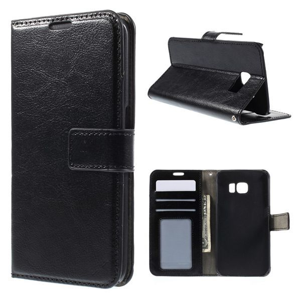 samsung edge s6 Crazy Horse 6 color Leather Wallet Cover Samsung Galaxy S6 Edge SM-G925 - China Fly store