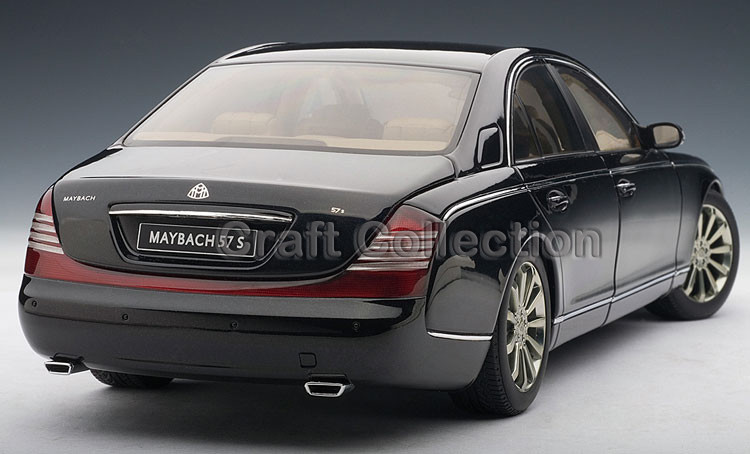*Black 1:18 AutoArt AA Maybach 57 S Diecast Mannequin Automobile Luxurious Presents Assortment Mini Mannequin Automobile Kits Limitied Version