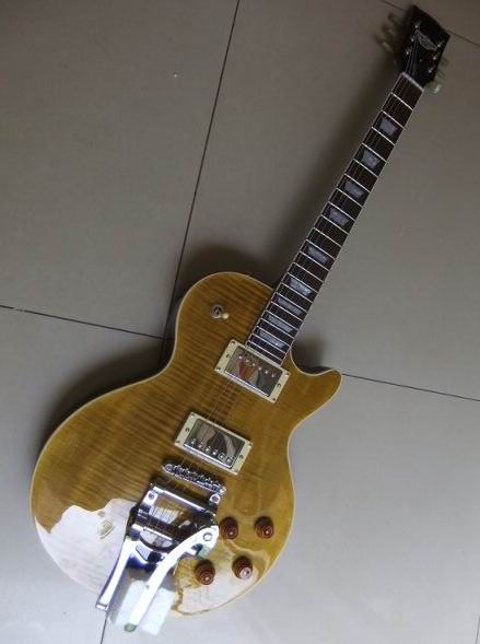 New Arrival Cibson LP standard electric guitar with bigsby in Beer Brown burst free shipping 110607(China (Mainland))