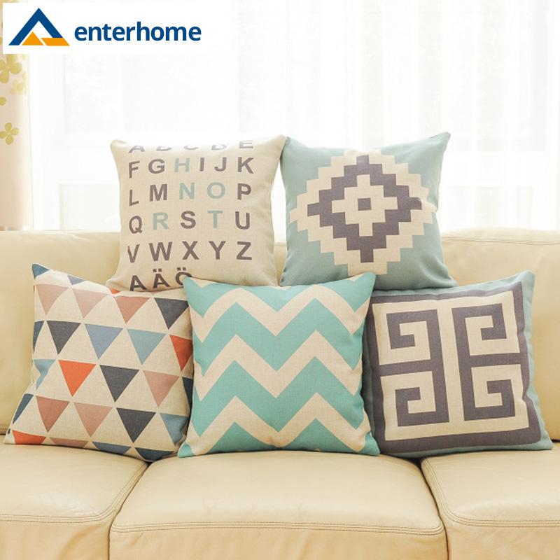 Enterhome 2016 Geometric Pillow Cushion Cover Pillow Case
