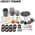 CRAZY POWER 105 Pcs Set Wood Metal Mold DIY Cutting Polishing Grinding Abrasive Tools Rotary Bit