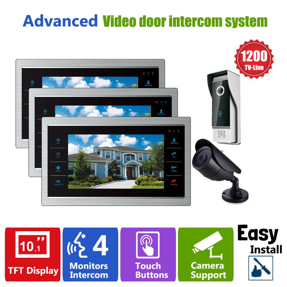 YSECU  Door Video Camera Video Doorbell System with Pinhole Camera  3.6MM Lens Security  1200TVL 3V1V1  Home Apartment Entry Kit<br><br>Aliexpress