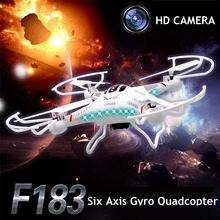 DFD F183 Dron Quadcopter Drones With Camera HD 2.0MP 4CH 6 Axis Quadrocopter Aircraft Remote Control Helicopter Toys Helicoptero