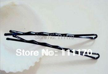 120Pcs=2Packs/lot Black Plated  U Shape 45mm Metal Hair Clips Barrette Hair Pin   J005