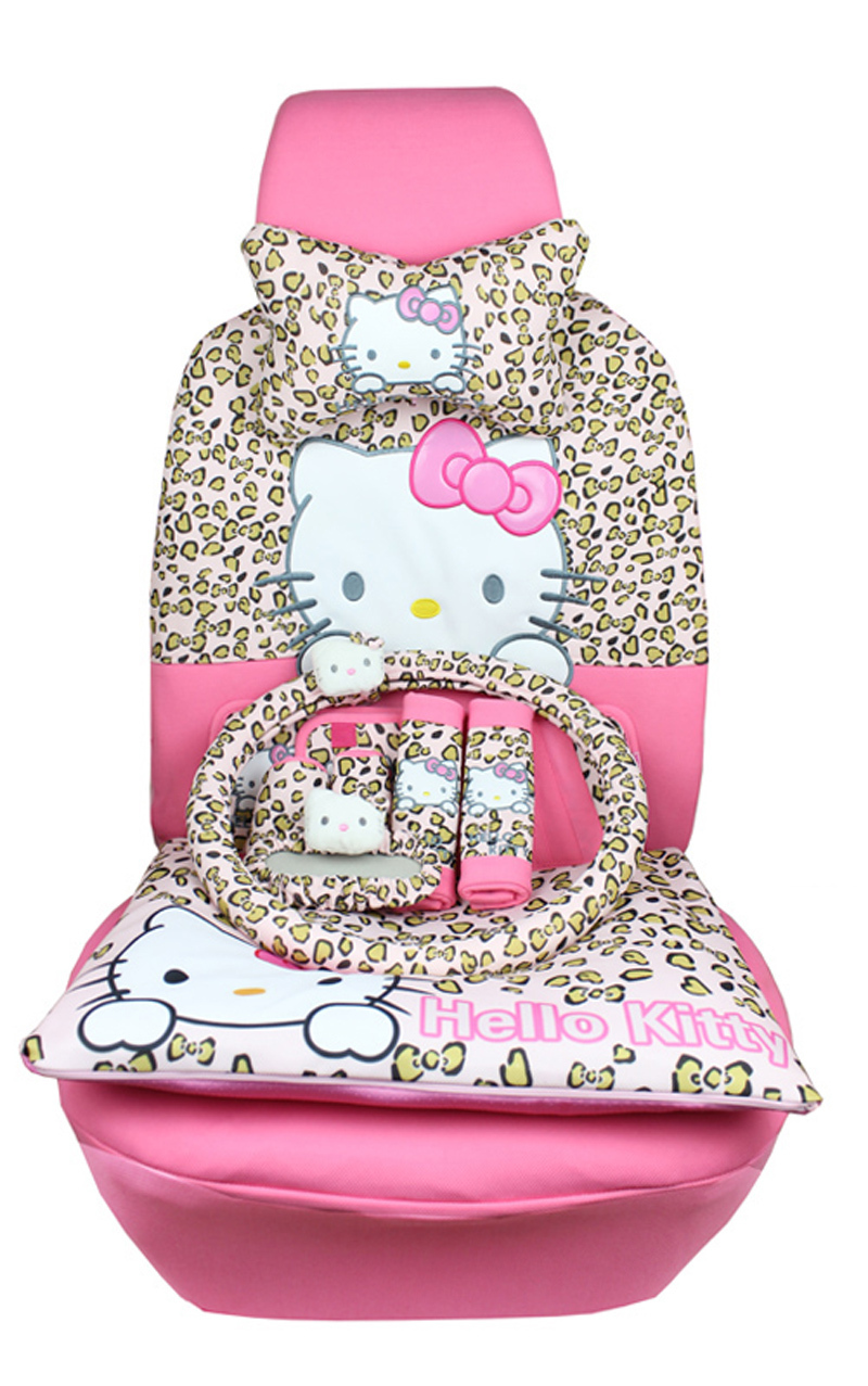 buy new 22pcs car covers cartoon universal hello kitty car seat covers set. Black Bedroom Furniture Sets. Home Design Ideas