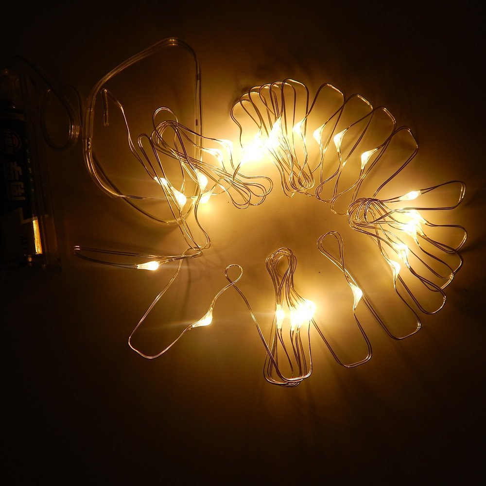 5m 50LEDS Copper Wire AA Battery Powered Starry Lights Fairy wire LED String- Decorative Light Strings - YIXIBANSTORE store